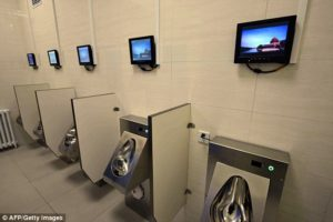 Chinese Toilets - Urinals and TV screens
